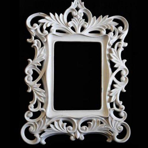 Moule silicone cadre photo miroir 32cm décoration pour plâtre porcelaine cire savon résine polyester argile ciment fimo