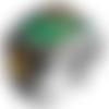Bague chevalière homme 19g en argent massif 925 déco calligraphie islam couleur vert