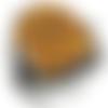 Bague chevalière homme 15g en argent massif 925 serti cabochon pierre naturelle oeil de tigre griffes
