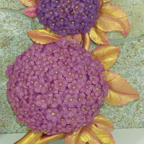Moule silicone grande fleur hortensia hydrangea 25cm pour fimo plâtre wepam porcelaine cire savon fimo argile résine polyester k780 8f1570