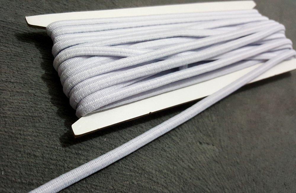 2 mètres Ruban élastique Latex Largeur 5mm indémaillable Blanc pour Masque B8
