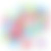 10 cabochons fleur vichy en résine 10 mm - couleurs mélangées
