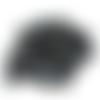 10 perles rondes en acrylique de couleur noir pétrole - 6 mm - perles synthétique