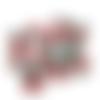 5 boutons cerises à queue - 11 x 12 mm - boutons en forme de fruit - layette