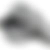 Large ruban galon tissé aztèque noir et blanc - vendu en 50 cm
