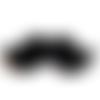 5 appliques en forme de moustache noire 79 x 23 mm
