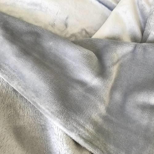 Polaire gris 2 face en 155 cm de largeur