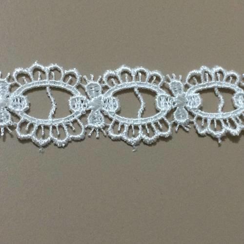 Passe ruban en dentelle beige  2,8 cm largeur