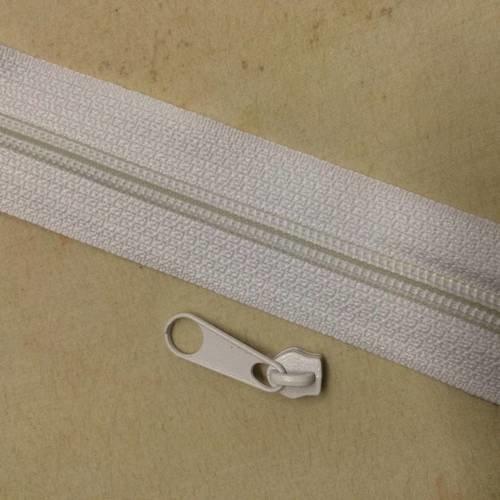 Fermeture eclair au metre blanche 3 centimetre