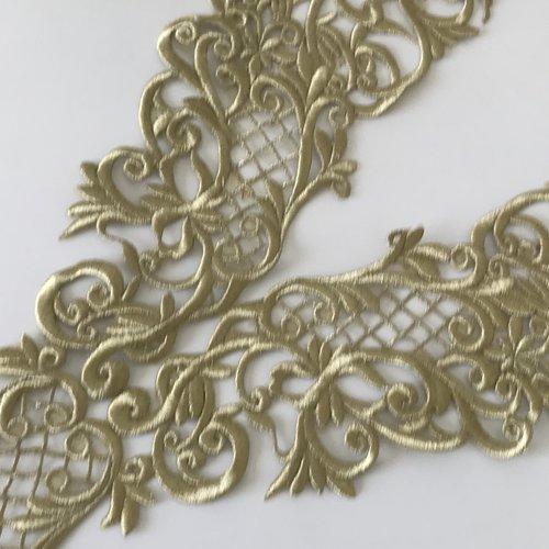 Broderie doré avec fil métallisé très haute qualité