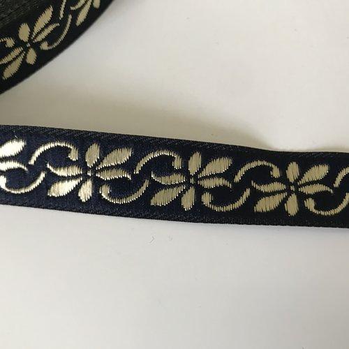 Galon medievale 17 mm bleu doré