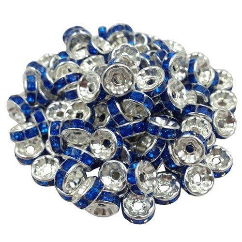 20 Perle Argenté 8mm en metal grand trou creation bijoux collier bracelet