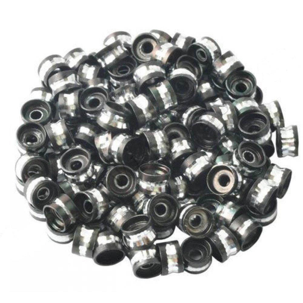 20 Perles Rondelle Aluminium 6mm Couleur Noir, Creation bijoux, bracelet