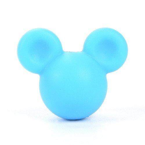 bijoux Perle en Silicone Souris 24mm x 20mm Mickey Creation attache tetine
