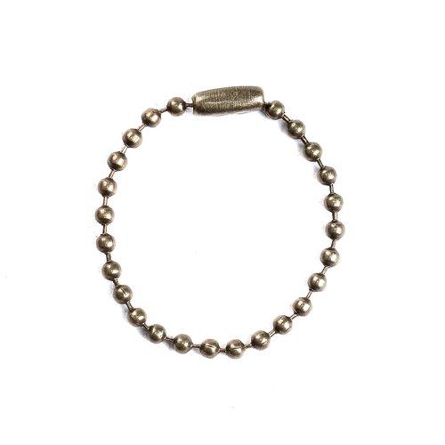 5 chainette a bille avec fermoir bronze 2,4mm longueur 10cm chaine maille boule