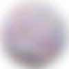 50 perles mixte chiffre blanche ecriture mixte acrylique ronde 7mm x 4mm