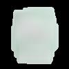 Perle silicone petit ourson avec chapeau vert tilleul 27mm x 18mm création bijoux