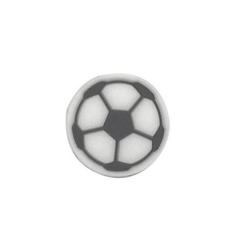 3 perles en silicone ballon de football couleur noir