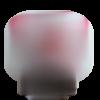 Clip pince attache tetine en bois rond 3cm coeur rouge