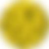 5 perles silicone 15mm couleur jaune canari, creation attache tetine