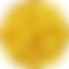 10 perle silicone 9mm couleur jaune, creation bijoux, attache tetine
