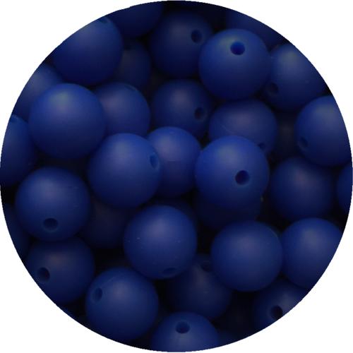 10 perle 12mm silicone couleur bleu marine, creation bijoux, attache tetine