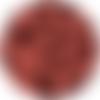 10 perle silicone 9mm couleur rouge brique, creation bijoux, attache tetine