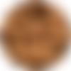 5 perles silicone 15mm couleur caramel, creation attache tetine