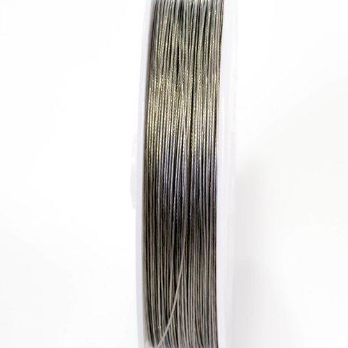 Fil aluminium 0.5mm souple couleurs argenté, tiger tail
