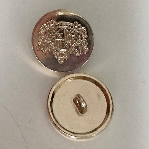 Bouton doré,boutons métal,bouton motif blason,bouton 18 mm