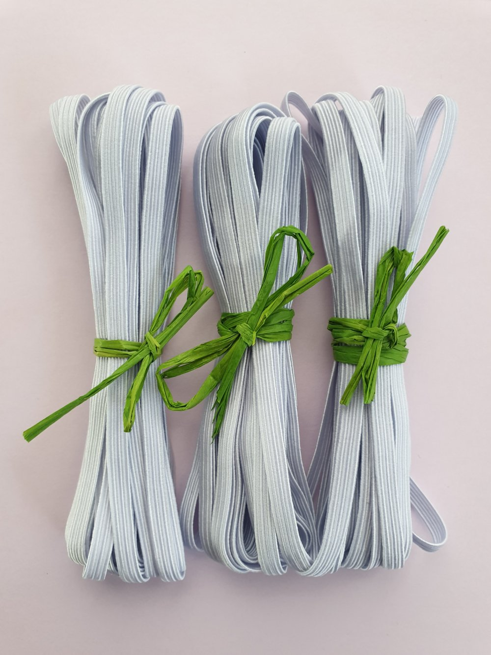 Elastique 15M, tresse élastique, elastiques  5 mm,blanc.