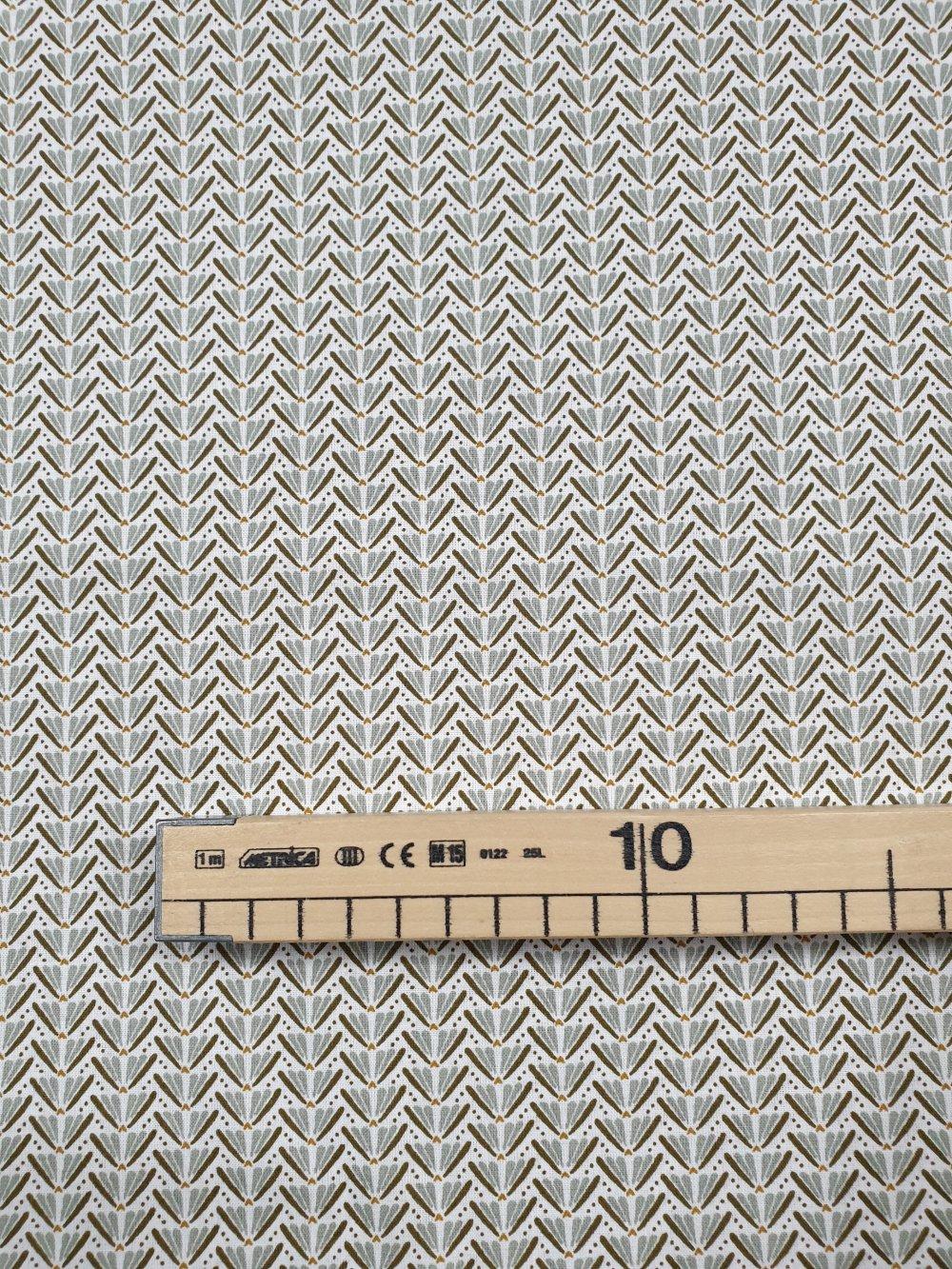 Tissu,coupon de tissu 50/75 cm, 100% coton vert kaki