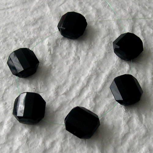 6  Perles coco carré bombé rouge