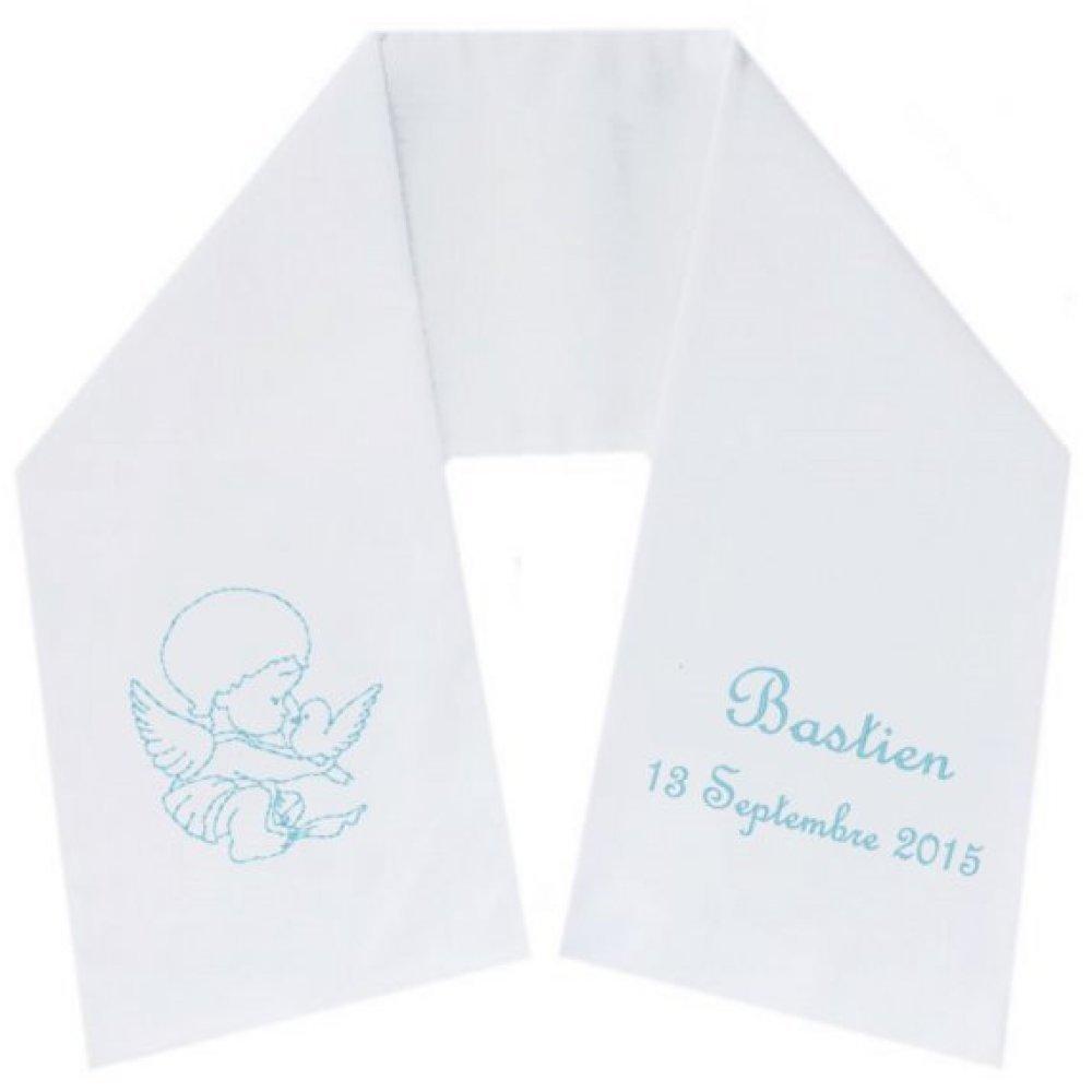Écharpe de baptême ange colombe