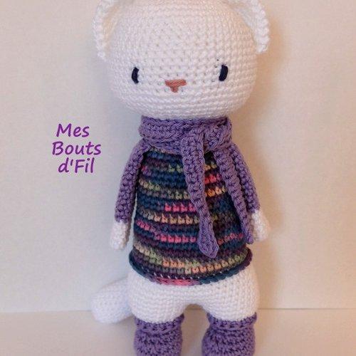 Violette, la belette au crochet