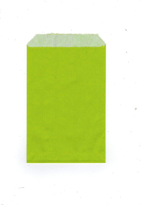 Lot de 10 pochettes papier kraft cadeaux uni vert anis 12 x 8 cm ideal bijo
