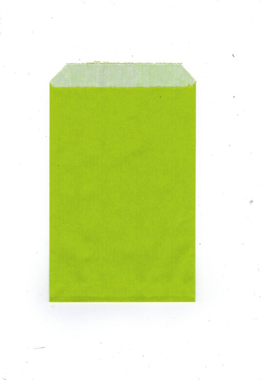 Lot de 25 pochettes papier kraft cadeaux uni vert anis  12 x 8 cm ideal bijoux