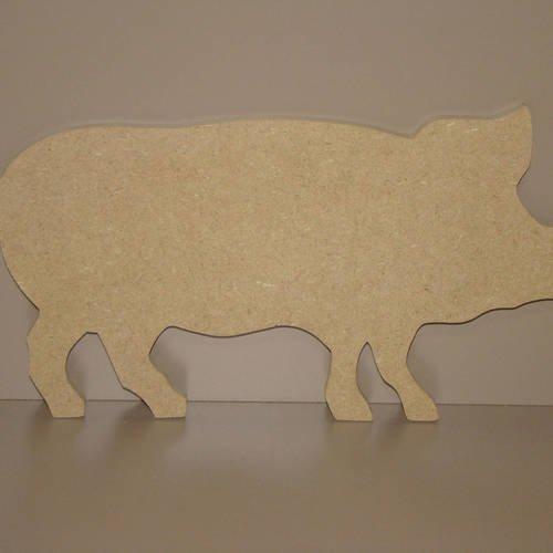 Cochon En Bois Mdf A Decorer Peindre 28 5 Cm X 14 Cm Un