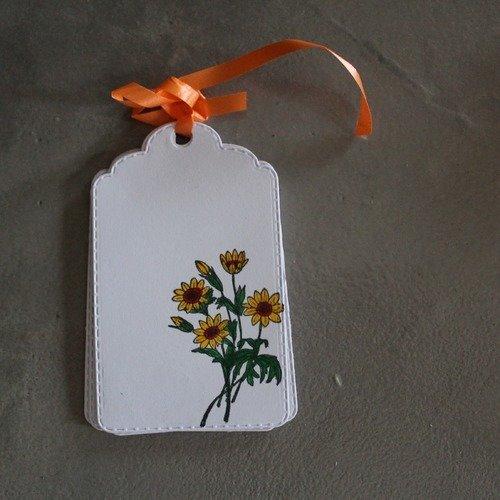 N/p 1020 - lot de 10 étiquettes fleurs