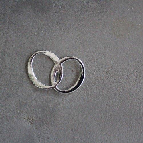 N/p 1022 -mariage- découpe papier alliance couleur argent