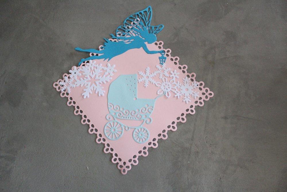597 : Embellissement thème naissance pour scrapbooking, décoration