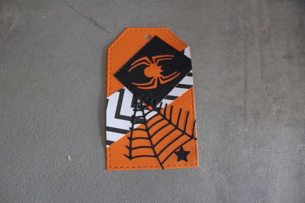 N/P 2188 - Etiquette thème Halloween pour scrapbooking, décoration embellissement...