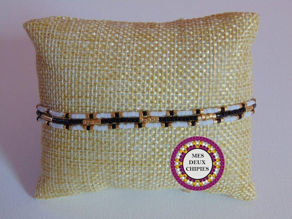 bracelet multirang en perles miyuki