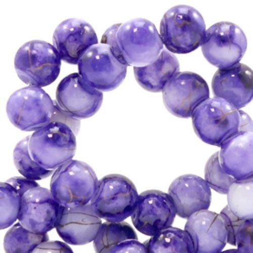 Rodé perles; verre rond; perles de verre 8mm Noir Opaque 20 st