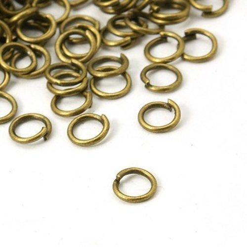 Anneaux de jonction métal bronze 5 x 0.7mm