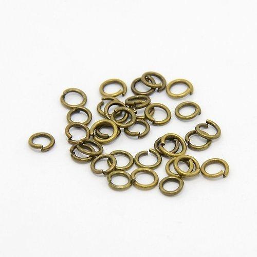 Anneaux de jonction bronze 4mm (10gr)