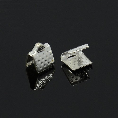 (x10)embout griffe argenté 8x8x5 mm