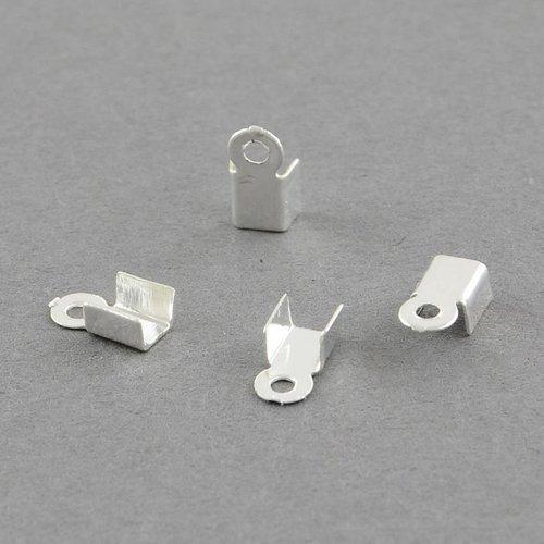 5gr embout pour cordon serre cordon métal argenté 6mm