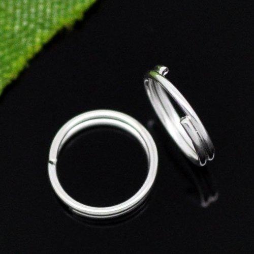 (10gr) anneaux de jonctions double argenté 7mm
