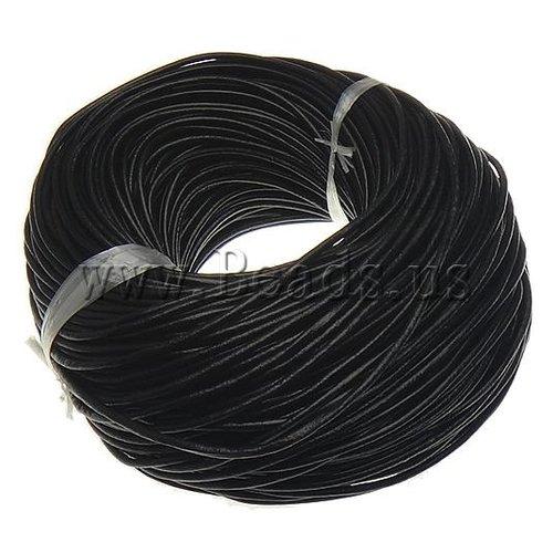 X 1 mètre de cordon cuir noir 3mm